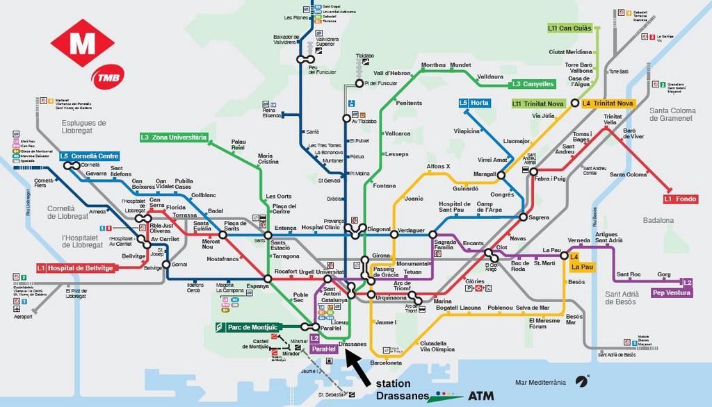 Carte Transport Barcelone Prix.Escale De Croisiere A Barcelone