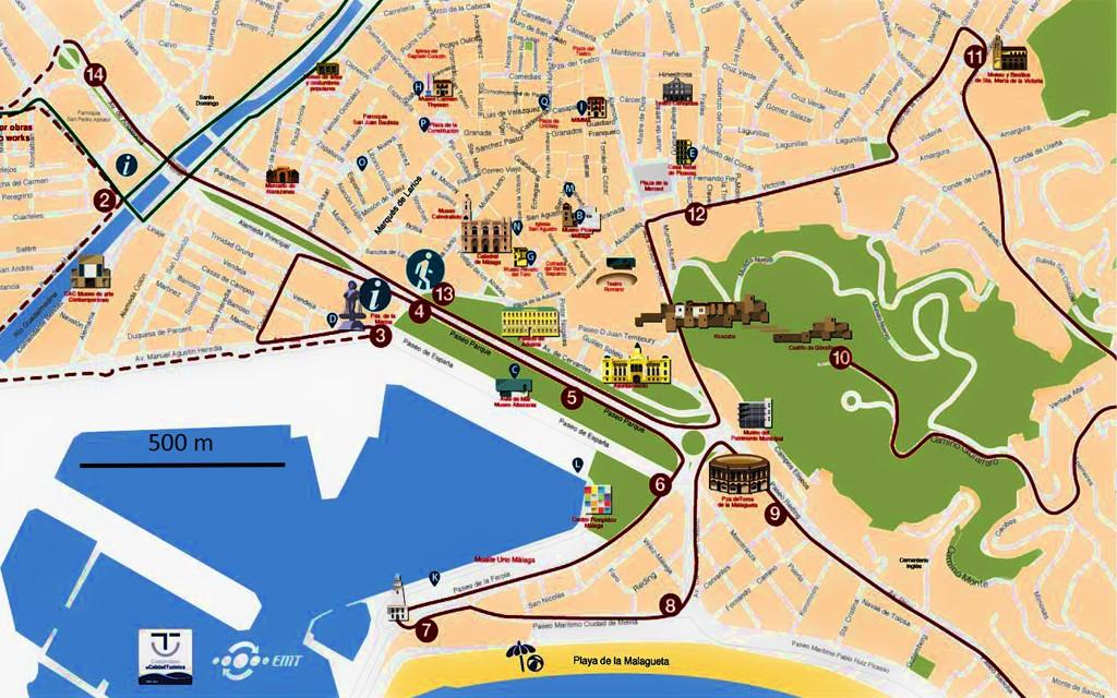 Plan Centre Ville Malaga