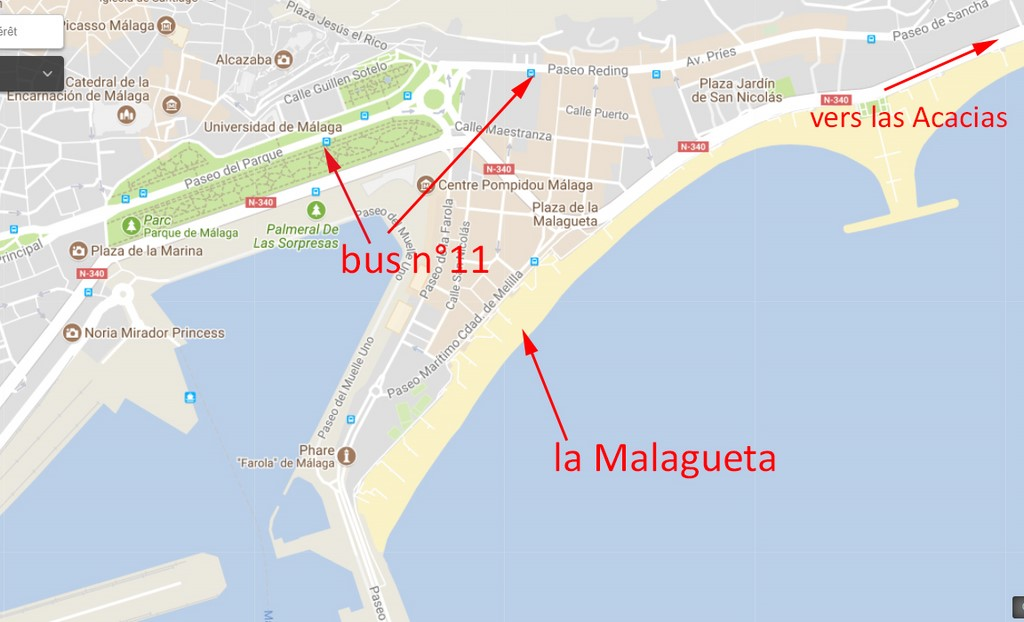 plan malaga centre